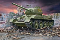1/72 T-34/85 Plastic Model Kit (Артикул:80-3302)