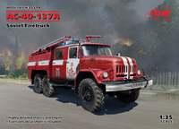 Сборная модель пожарной машины АС-40-137А от ICM в 35-ом масштабе.