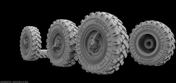Смоляные колеса для АС-40-137А от Arma-models