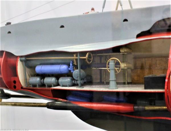 Интерьер кормового торпедного отсека Щуки